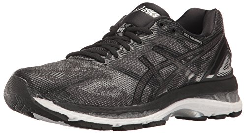 ASICS Women's Gel-Nimbus 19 Running Shoe, Black/Onyx/Silver, 7.5 M US