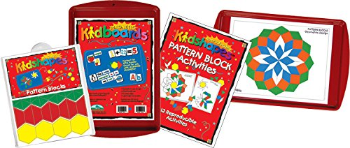 Barker Creek - Office Products Learning Magnets, Pattern Block Activity Kit (LM-2320)