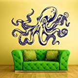 Wall Decal Mural Vinyl Sticker Animal Bedroom Octopus Sprut Ocean Sea (Z808)