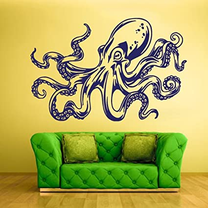 Amazon.com: Wall Decal Mural Vinyl Sticker Animal Bedroom Octopus ...