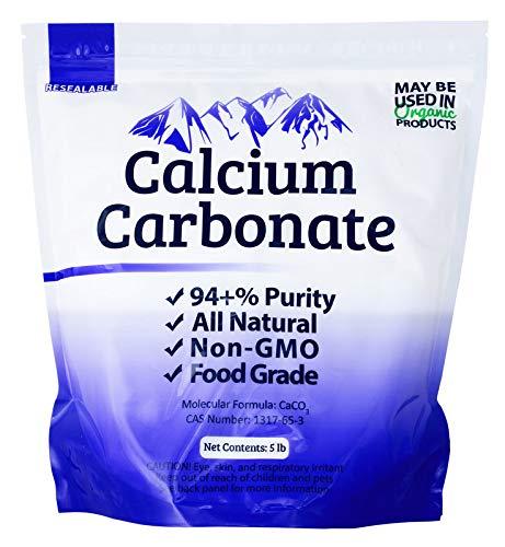 Duda Energy FGcc5f Food Grade 97+% Calcium Carbonate from Ground Limestone, 5 lb. (Roach Stone)