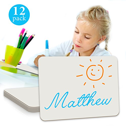 Minted Promos  Dry Erase Student Lap White Board, 9 X12 -Inches,12-Pack, by Scribbledo