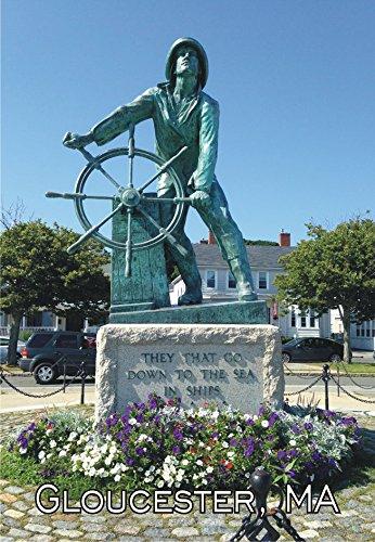 atue, Fisherman's Memorial, Gloucester, Massachusetts, MA, Travel, Souvenir, Locker Magnet 2 x 3 Fridge Magnet ()