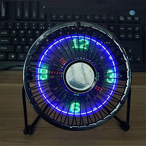 New Mini 4 pollici flash parola in ferro battuto ventilatore usb portatile luce fan orologio a led