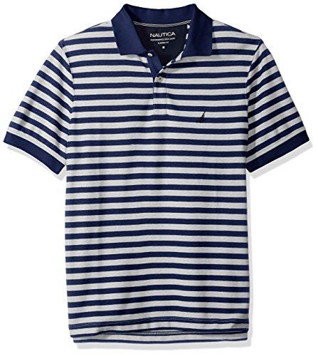 Shirt Stripe Mens Classic (Nautica Men's Classic Short Sleeve Stripe Polo Shirt, j Navy, X-Large)
