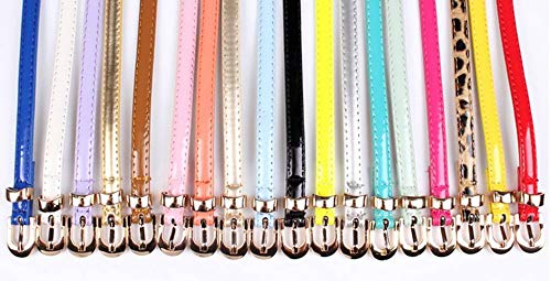 Korean Waist Skinny Decorative YiyiLai Belt Leather Jeans Silver Band Dress Women qAOtOR4xwT
