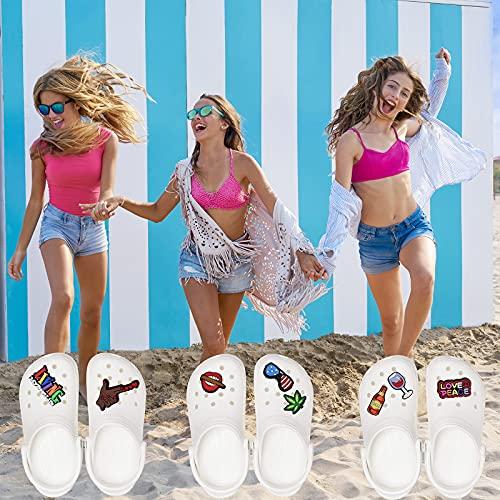 TACVEL 320Pcs Transparent Buckle Plastic Button Accessories, Suitable for Shoe Charm, Wristband Charm Backs, DIY Ornaments(3 Sizes, 10mm/12mm/13mm)