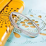 "LadyColour ""Waltz of Love"" Bangle Bracelets 7"", Made With Swarovski Crystals - Gift of Love!"