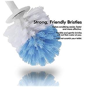 Leakproof Toilet Brush Set - bristles