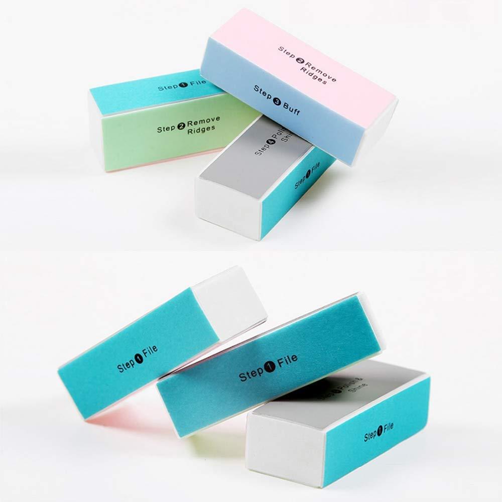 5 UNIDS 4 Lados Nail Art Sanding File Blocks Esmalte de Uñas Buffer 4 maneras Fuctional Nail Block Manicure Buffing Tool Salon uu19ee