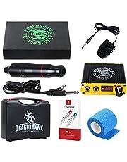 Dragonhawk Cartridge Tattoo Machine Kit Pen Rotary Tattoo Machine Needles Power Supply for Tattoo Artists