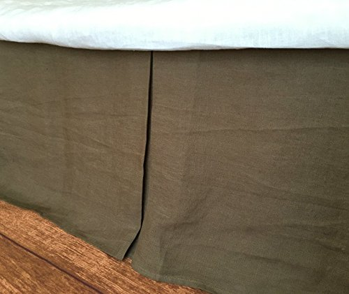 CEDAR Dark Brown Tailored Bedskirt, Dark Brown Bed Skirt, Shabby Chic Bedding, Twin Queen King California King Bed Skirt, HANDMADE, FREE (California King Cedar Bed)