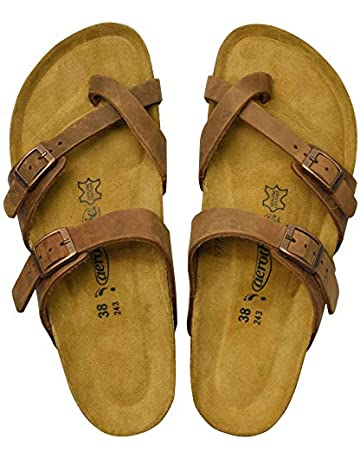 9d1edd5822 AEROTHOTIC - Comfortable and Arch Support Strappy Footbed Leather Sandals  for Women