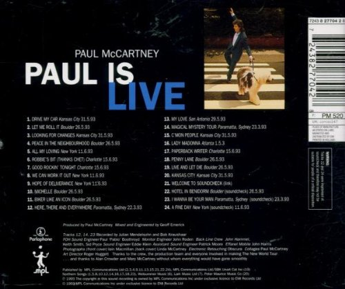 Paul Is Live by Capitol