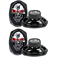 4) NEW BOSS SKULL Phantom SK694 6x9 1400W 4 Way Car Full Range Speakers 6x9