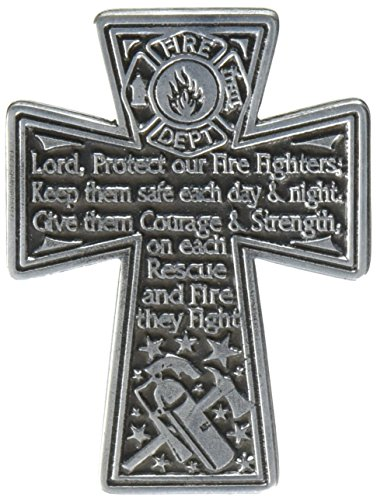 Cathedral Art KVC179 Auto Visor Clip, Firefighter's Cross, (Firefighter Auto)