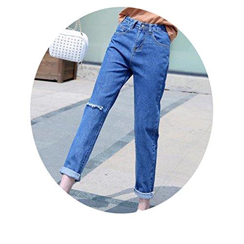 - CARMELA HILL WILLIAMS Boyfriend Jeans for Women Trousers Denim Pants Ripped Jeans Woman Plus Size Mujer Femme