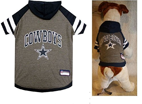 Dallas Cowboys Oficial Licensed Pet Hoodie Game Football Gear Puppy NFL Dog
