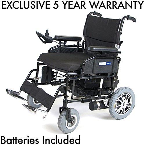 "Drive Wildcat 450 Heavy Duty Folding Power Wheelchair 24"" Seat Including 5 Year Extended Warranty ()"