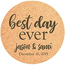 Personalized Wedding Cork Coasters For Guests Set Of 25