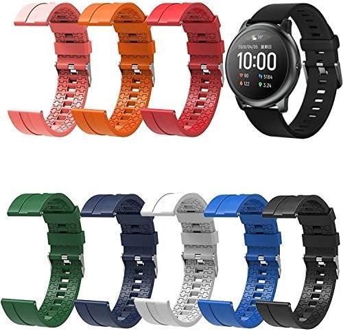 N / A Smart Watch Band Adatto for la Cinghia del Silicone della vigilanza Xiaomi Haylou Solare Lunghezza: 21cm (Color : Red) Orange
