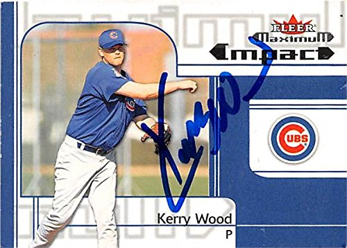 Kerry Wood autographed baseball card (Chicago Cubs) 2002 Fleer Impact #269