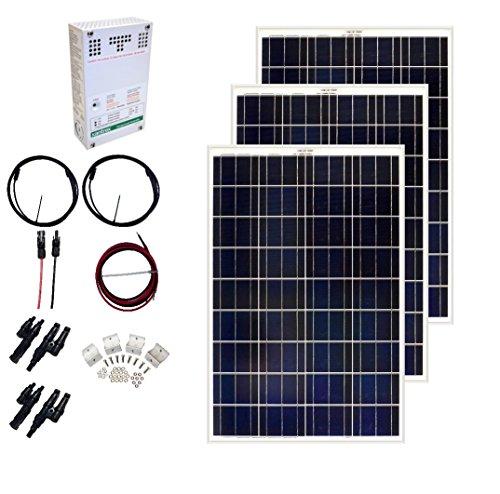 Grape Solar GS-300-CKIT-A 300W Solar Charging Kit for 12/24V Battery Banks by Grape Solar