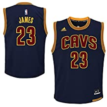 23_LeBron_James For Youth Cleveland_Cavaliers Road Swingman Jersey Navy Blue color Size L