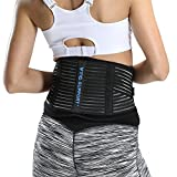 VTG Back Brace Lumbar Support Belt for Women Men Lower Back Pain, Sciatica, Scoliosis, Herniated Discs, Strain and Sprain Relief with Adjustable Dual Compression Straps, L