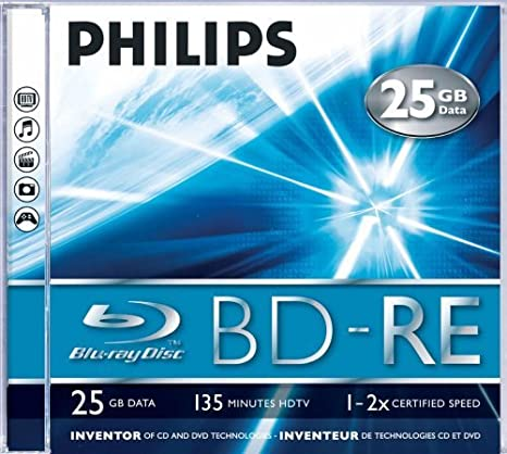 Philips BE2S2J05C/00 25GB 5pieza(s) Disco BLU-Ray Lectura ...
