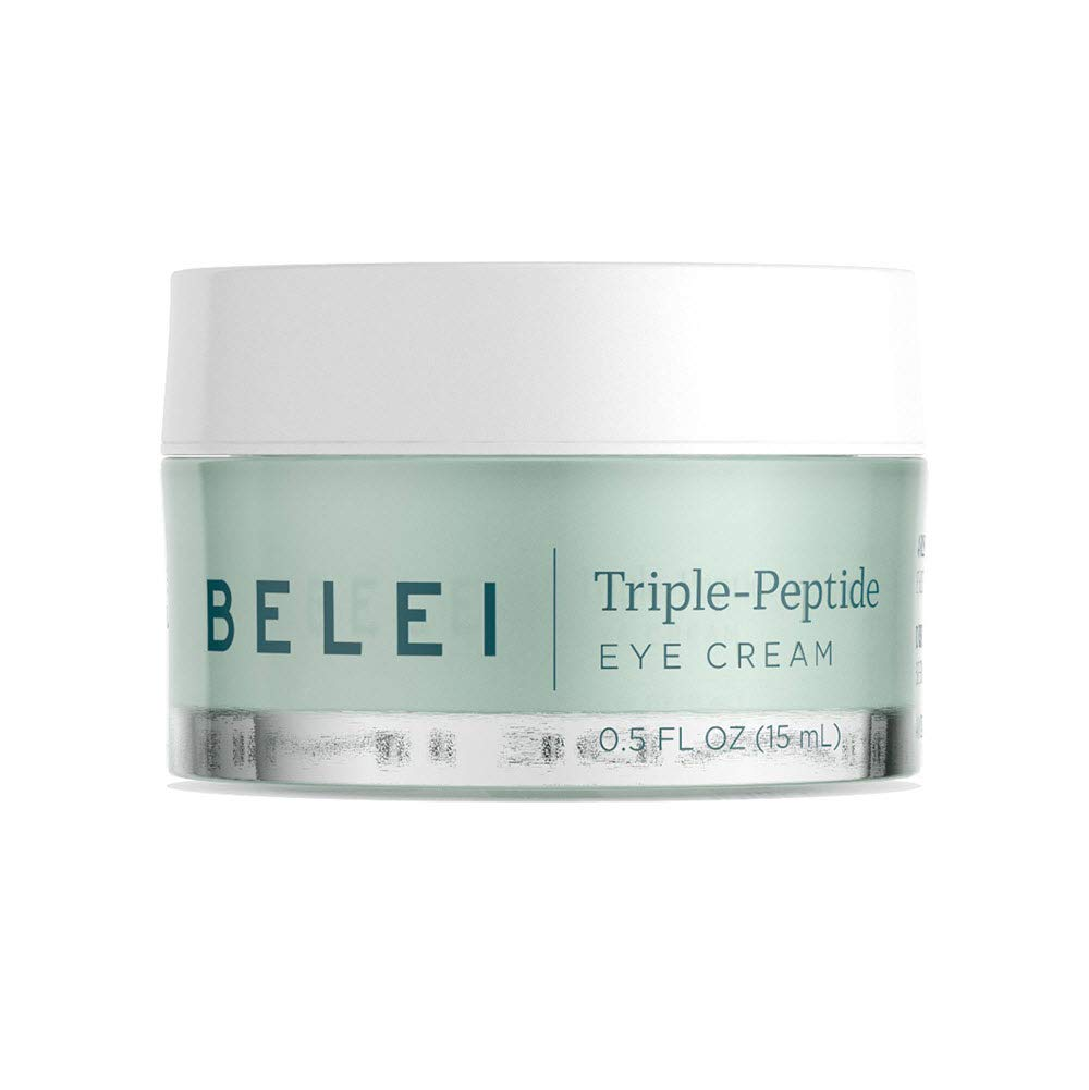 Belei Triple-Peptide, Paraben Free Under Eye Cream for Fine Lines, Puffiness and Dark Circles, 0.5 Fluid Ounce(15 mL)