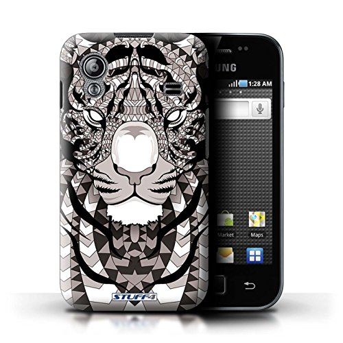 Stuff4 Hülle / Hülle für Samsung Galaxy Ace / Tiger-Mono Muster / Aztec Tier Muster Kollektion