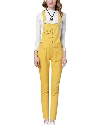 Femme Salopette Jeans Combinaison Denim Slim Jumpsuit Pantalon Casual   Amazon.fr  Vêtements et accessoires 6cd3a4640e1