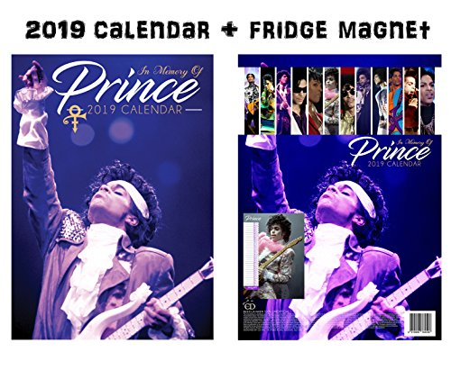 Prince Calendar 2019 + Prince Refrigerator Magnet]()
