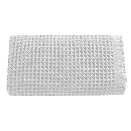 Arvec Turkish Waffle Weave Bath Sheet Towel, Bamboo & Turkish Cotton Blend, Ultra Soft Turkish Bath Towel 35'' x 70'' (White) by Arvec