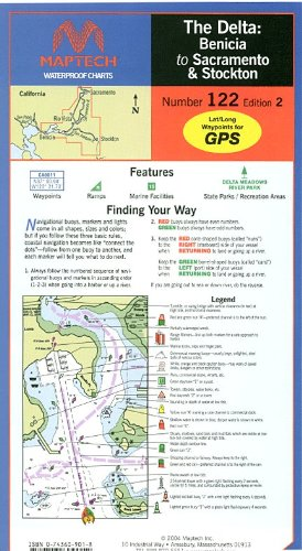 Maptech Waterproof Chart 122: The Delta: Benicia to, used for sale  Delivered anywhere in USA