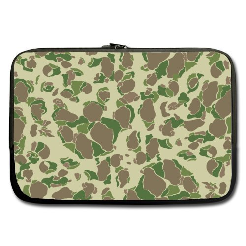 Cheap And Nice 15.6 Inch Laptop Sleeve Camouflage Green (Double-sided,No Straps) (Camo Netbook Sleeve Green)