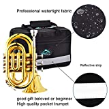 EastRock Pocket Trumpet Brass Bb Gold Lacquer Mini