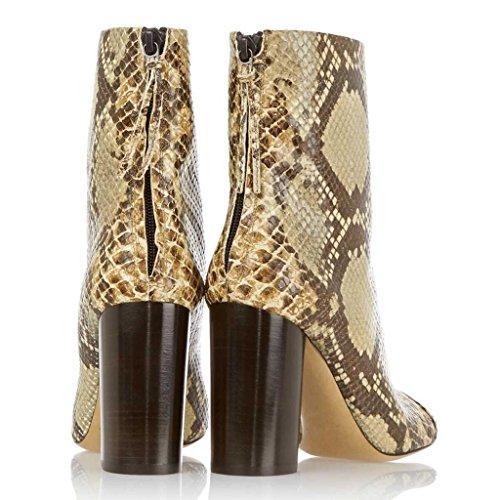 PU de Mostrar Artificial de de 36 trabajo 070816FD botas Silver tacones Botas invierno Señora Zapatos Botas Botas 43 otoño GOLD Zip altos vBpqw8