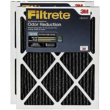 Filtrete AOR03-2PK-1E 20x25x1, AC Furnace Air Filter, MPR 1200, Allergen Defense Odor Reduction, 2-Pack, 20 x 25 x 1, 2 Pack
