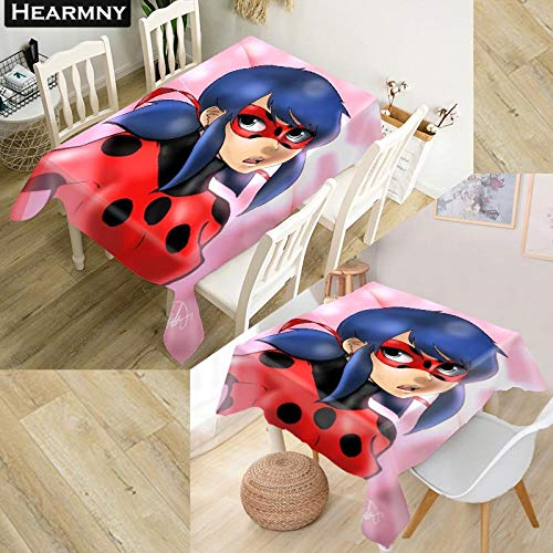 RubyShopUU Miraculous Ladybug Tablecloth Decorations Home Rectangular Party Table Covers Office Plain More Size Kitchen Dining Table -