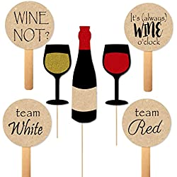 Wine Tasting Photobooth Props and Paddles for Themed Party Photos