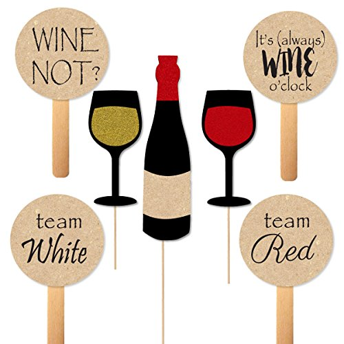 - Wine Tasting Photobooth Props and Paddles for Themed Party Photos