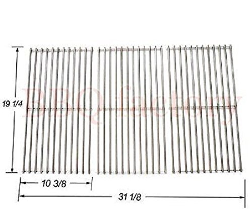 (bbq factory Replacement Stainless Steel Cooking Grid Set of 3 for Select Gas Grill Models By Brinkmann, Charmglow, Costco, Jenn Air, Members, Nexgrill, Perfect Flame, Sams Club, Gas Grill and Others)