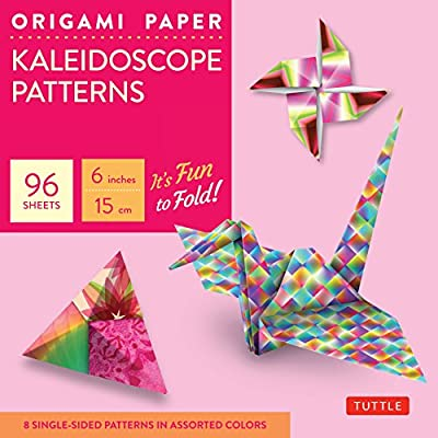 "Origami Paper - Kaleidoscope Patterns - 6"" - 96 Sheets: (Tuttle Origami Paper)"