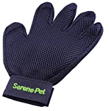 Pet-Grooming-Glove-by-Serene-Pet-Deshedding-Tool-for-Dogs-and-Cats-Large-and-Small-Gentle-and-Efficient-Massage-for-Long-and-Short-Coats-Premium-Quality-Mitt-Soft-Comb-to-Brush-Away-Shedding-Fur