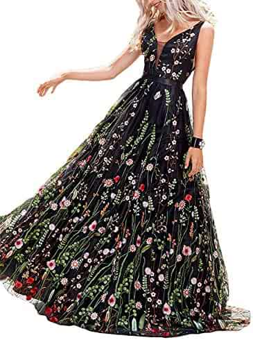 10a471fb55 PromC Women Floral 2 Piece Prom Dresses 2019 Long Formal Evening Gown P030