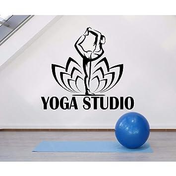 Ayhuir Logotipo De Yoga Tatuajes De Pared Vinilo Postura De Yoga ...