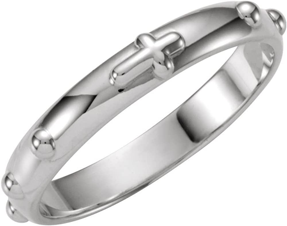Sterling Silver 5% OFF Rosary Ring - 6 Cheap mail order sales Size