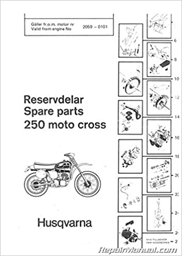 Husq P 1977 250cr 1977 Husqvarna 250 Cr Motorcycle Parts Manual